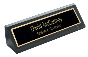 "BKA10<BR>BLACK MARBLE DESK WEDGE<BR>USE WITH 2"" X 10"" NAMEPLATE"