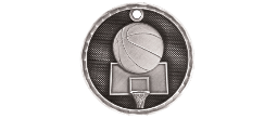 "3-D202 - 3-D202<BR>2"" ROUND 3-D MEDAL<BR>BASKETBALL<BR>AVAILBLE IN GOLD-SILVER-BRONZE"