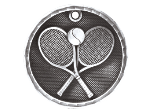 "3-D212 - 3-D212<BR>2"" ROUND 3-D MEDAL<BR>TENNIS<BR>AVAILBLE IN GOLD-SILVER-BRONZE"