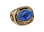 CHR32BU - CHR32BU<BR>CHAMPIONSHIP RING<BR>BLUE GLASS GEM