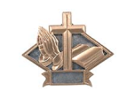"DPS21 - DIAMOND RESIN AWARD<BR> RELIGIOUS 6"" x8 1/2""<BR>WITH ENGRAVABLE PLATE"