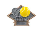 "DPS23 - DIAMOND RESIN AWARD<BR> TENNIS 6"" x8 1/2""<BR>WITH ENGRAVABLE PLATE"