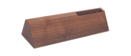 "DS20 - DS20<BR>WALNUT DESK WEDGE<BR>WITH BUSINESS CARD HOLDER<BR>USE WITH 2"" X 10"" NAMEPLATE"