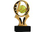 "MS208 - MS208<BR>MIDNIGHT STAR PEDESTAL RESIN FIGURE<BR>SOFTBALL 7""<BR>WITH ENGRAVABLE PLATE"
