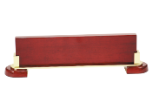 "PNA310 - PNA310<BR>PIANO FINISH & METAL DESK NAME BAR<BR>USE WITH 2"" X 10"" NAMEPLATE"