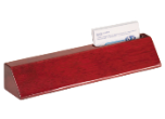 "PNA48 - PNA28<BR>PIANO FINISH DESK WEDGE<BR>WITH BUSINESS CARD HOLDER<BR>USE WITH 2"" X 8"" NAMEPLATE"