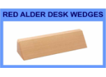 "RA28 - RA28<BR>RED ADLER DESK WEDGE<BR>USE WITH 2"" X 8"" NAMEPLATE"