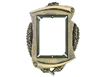 "T452 - T452<BR>PLAQUE MOUNT<BR>METAL SCROLL FRAME<BR>9"" x 12 1/2""<BR>HOLDS 5 3/8'' x 7 3/8""""<BR>PLATE"