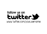 "TWITTER844 - TWITTER STAMP<BR>CUSTOM TEXT<BR>7/8""x2 3/8"""