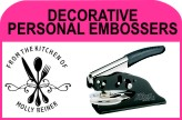 DECORATIVE PERSONAL EMBOSSERS