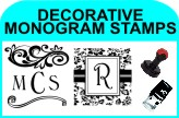 DECORATIVE MONOGRAM STAMPS